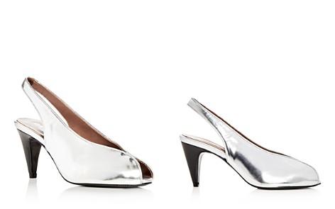 Carel Women's Saturne Metallic Slingback Peep Toe Pumps - Bloomingdale's_2