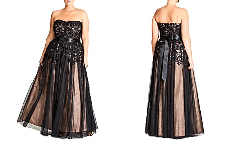 City Chic Strapless Embellished Tulle Gown - Bloomingdale's_2