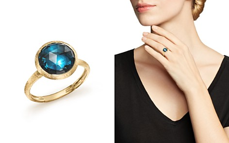 Marco Bicego 18K Yellow Gold Jaipur Blue Topaz Ring - Bloomingdale's_2