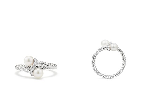David Yurman Solari Bypass Ring with Cultured Akoya Pearls & Diamonds in 18K White Gold - Bloomingdale's_2