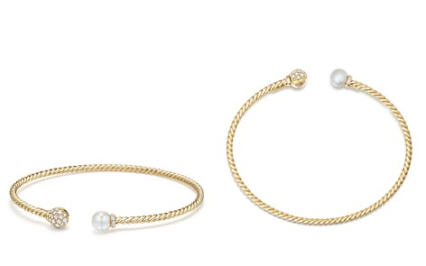 David Yurman Solari Bead & Cultured Akoya Pearl Bracelet with Diamonds in 18K Gold - Bloomingdale's_2