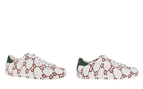 Gucci Women's Ace GG Print Leather Lace Up Sneakers - Bloomingdale's_2
