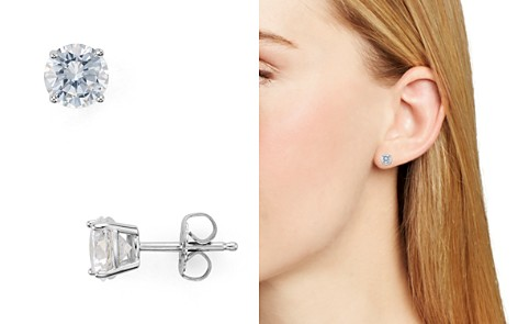 AQUA Sterling Silver Stud Earrings - 100% Exclusive - Bloomingdale's_2