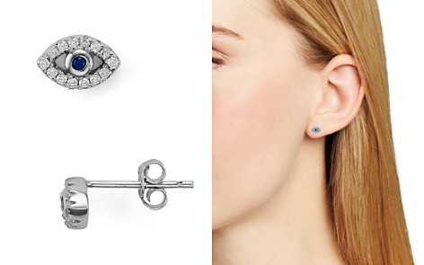 AQUA Sterling Silver Evil Eye Stud Earrings - 100% Exclusive - Bloomingdale's_2