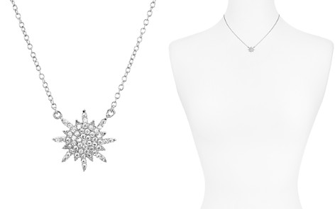 "AQUA Sterling Silver Star Pendant Necklace 16"" - 100% Exclusive - Bloomingdale's_2"