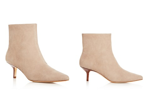 HALSTON HERITAGE Women's Faith Nubuck Leather Kitten Heel Booties - Bloomingdale's_2