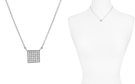 "AQUA Sterling Silver Square Pendant Necklace, 16"" - 100% Exclusive - Bloomingdale's_2"