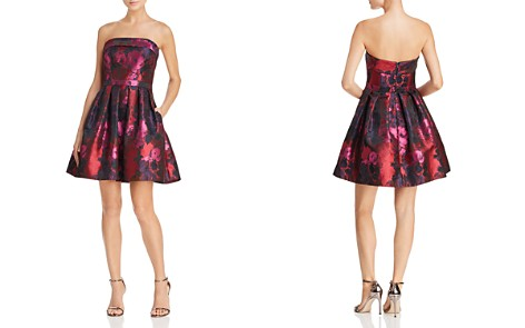 Avery G Strapless Brocade Dress - Bloomingdale's_2