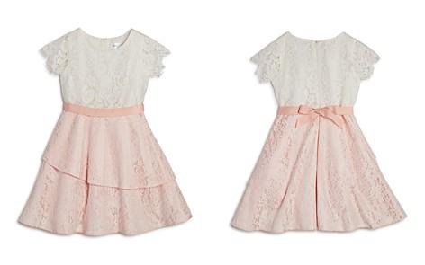 US Angels Girls' Asymmetrical Lace Dress - Little Kid - Bloomingdale's_2