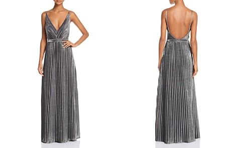 Laundry by Shelli Segal Pleated Foil Gown - Bloomingdale's_2
