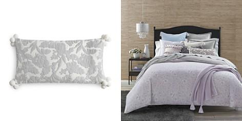 "Sky Velvet Floral Decorative Pillow, 12"" x 24"" - 100% Exclusive - Bloomingdale's_2"