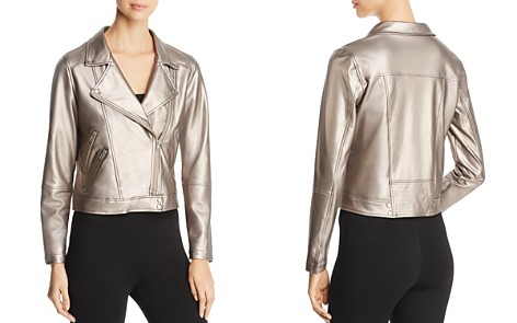 Lyssé Jones Metallic Faux Leather Moto Jacket - Bloomingdale's_2