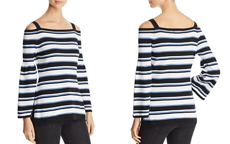 Heather B Striped Cold-Shoulder Sweater - Bloomingdale's_2