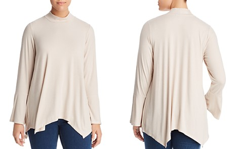 B Collection by Bobeau Curvy Anna Striped Bell-Sleeve Top - Bloomingdale's_2
