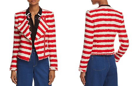 Alice and Olivia Stanton Striped Jacket - Bloomingdale's_2