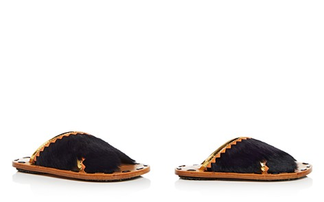 Marni Women's Samsy Calf Hair & Leather Crisscross Slide Sandals - Bloomingdale's_2