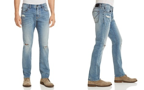 John Varvatos Star USA Bowery Slim Fit Jeans in Distressed Blue - 100% Exclusive - Bloomingdale's_2