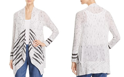 NIC and ZOE Dash Open-Front Stripe-Panel Cardigan - Bloomingdale's_2