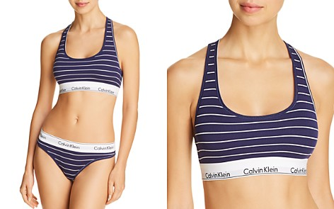 Calvin Klein Modern Cotton Ribbed Striped Bralette & Thong - Bloomingdale's_2