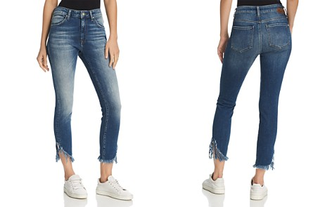 Mavi Tess Vintage High Rise Skinny Jeans in Extreme Ripped Vintage - Bloomingdale's_2