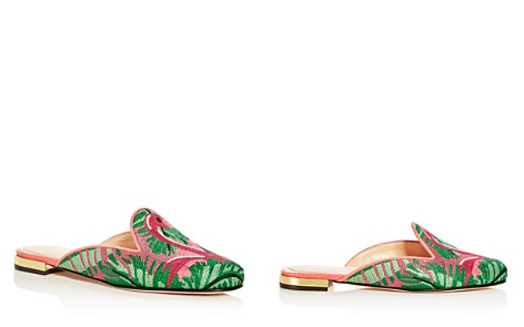 Charlotte Olympia Women's Flamingo Embroidered Mules - Bloomingdale's_2