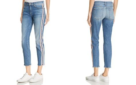 7 For All Mankind Roxanne Side-Stripe Skinny Jeans in Vintage Blue Dunes - Bloomingdale's_2