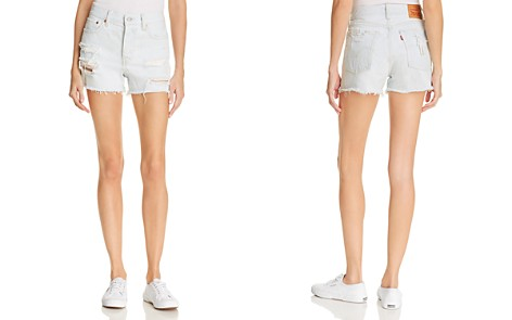Levi's Wedgie Denim Shorts in Thin Ice - 100% Exclusive - Bloomingdale's_2