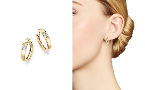 Bloomingdale's Diamond Small Hoop Earrings in 14K Yellow Gold, 0.25 ct. t.w. - 100% Exclusive _2