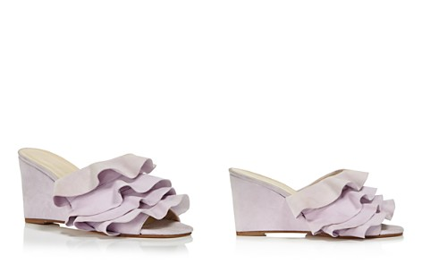 Creatures of Comfort Women's Keira Ruffled Suede Wedge Slide Sandals - Bloomingdale's_2