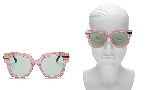 Gucci Women's Glitter Oversized Square Sunglasses, 51mm - Bloomingdale's_2