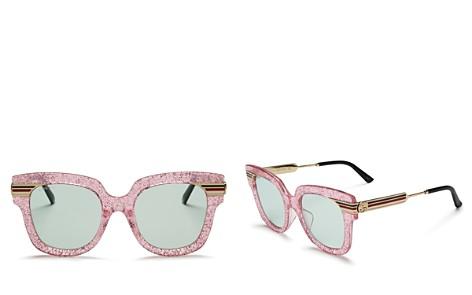 Gucci Glitter Oversized Square Sunglasses, 51mm - Bloomingdale's_2