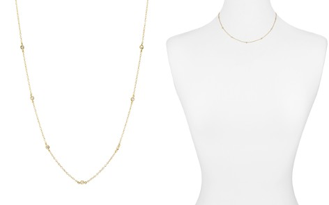 """AQUA Sterling Silver Thin Chain Necklace, 16"""" - 100% Exclusive - Bloomingdale's_2"""