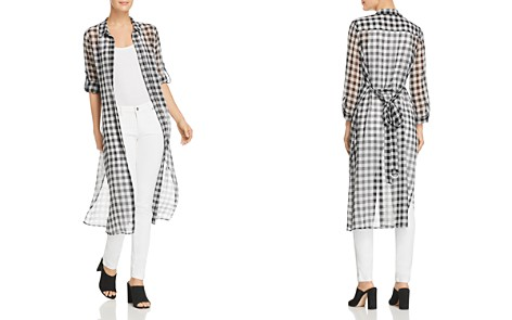 Calvin Klein Sheer Gingham Shirt Dress - 100% Exclusive - Bloomingdale's_2