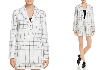 The Fifth Label Atticus Double-Breasted Check-Print Blazer - Bloomingdale's_2