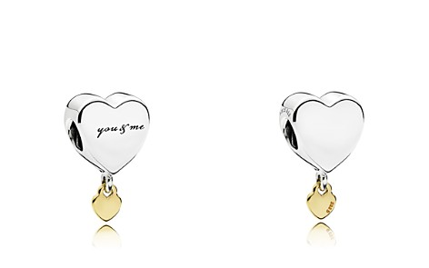 PANDORA Sterling Silver and 14k Gold Heart Charm - Bloomingdale's_2