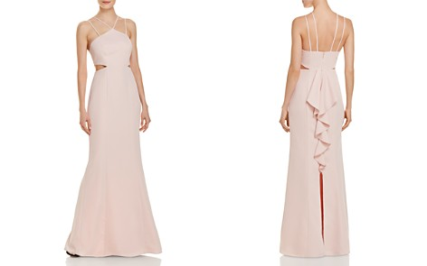 Laundry by Shelli Segal Strap-Detail Cutout Gown - Bloomingdale's_2