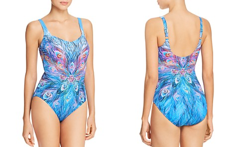 Gottex Feather-Print One Piece Swimsuit - Bloomingdale's_2