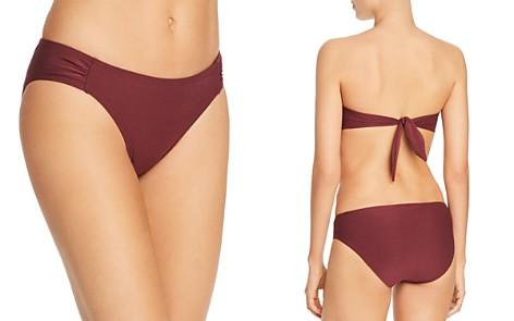 kate spade new york Shirred-Side Bikini Bottom - Bloomingdale's_2