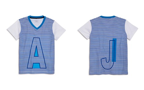 Armani Junior Boys' Striped Logo V-Neck Tee - Little Kid, Big Kid - Bloomingdale's_2