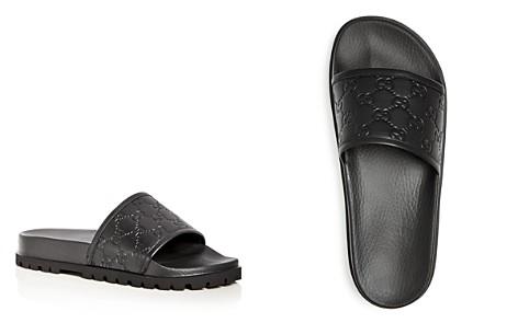 Gucci Men's Pursuit Treck Embossed Leather Slide Sandals - Bloomingdale's_2