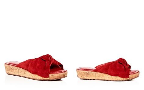 Bernardo Women's Suede Bow Platform Slide Sandals - Bloomingdale's_2