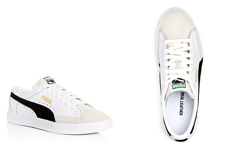 PUMA Men's Basket Leather & Suede Lace Up Sneakers - Bloomingdale's_2