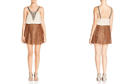 Haute Hippie Crystal Ball Beaded Silk Cami - Bloomingdale's_2