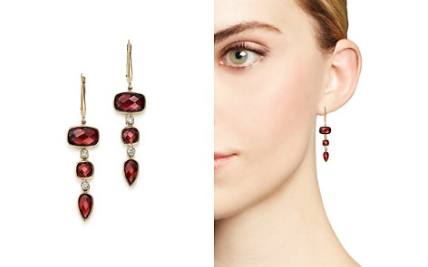 Olivia B 14K Yellow Gold Tiered Garnet & Diamond Drop Earrings - 100% Exclusive - Bloomingdale's_2