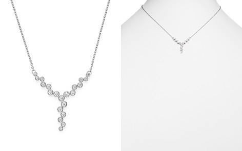 Bloomingdale's Diamond Bezel Y Necklace in 14K White Gold, 0.50 ct. t.w. - 100% Exclusive _2
