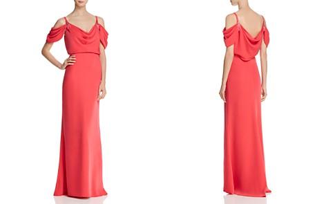 Tadashi Shoji Cold-Shoulder Crepe Gown - Bloomingdale's_2