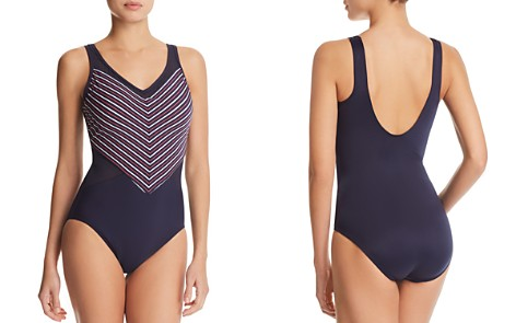 Miraclesuit Lucky Stripe On Point One Piece Swimsuit - Bloomingdale's_2