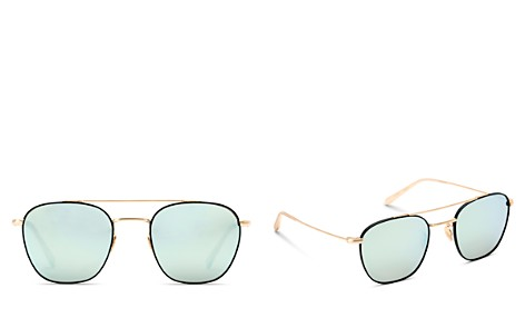 Krewe Earhart 24K Mirrored Aviator Sunglasses, 53mm - Bloomingdale's_2
