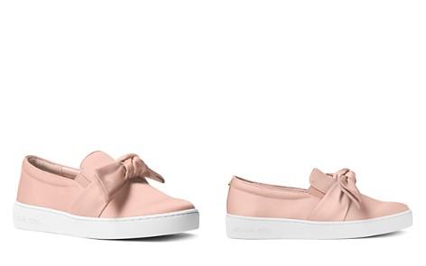 MICHAEL Michael Kors Women's Willa Satin Bow Slip-On Sneakers - Bloomingdale's_2