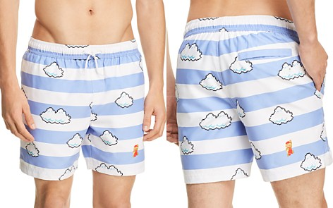 Original Penguin Nintendo Mario in the Sky Swim Trunks - 100% Exclusive - Bloomingdale's_2